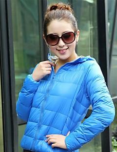 Mulheres Jaqueta de Plumas Térmico/Quente Materiais Leves Ao ar livre Jaqueta de Inverno Blusas para Esportes de Neve Primavera Inverno
