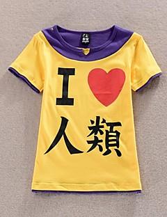 """Inspirert av Intet Spill Intet Liv Cosplay Anime  """"Cosplay-kostymer"""" Cosplay T-skjorte Lapper Trykt mønster Kortermet T-Trøye Til Mann"""