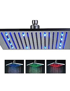 Contemporary Rain Shower Brushed Feature-Rainfall LED , Shower Head