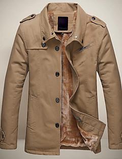 leitin férfi hajtóka nyak minden megfelelő egyszínű kabát