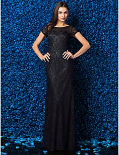 billiga Balklänningar-Åtsmitande Illusion Halsband Golvlång Spets Cocktailfest / Bal / Formell kväll Klänning med Spets av TS Couture®