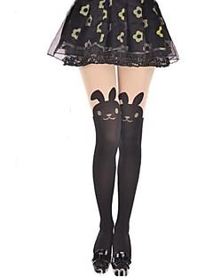 Χαμηλού Κόστους Καλσόν-Πριγκίπισσα Κάλτσες & Καλτσόν Κάλτσες Μέχρι τους Μηρούς Γλυκιά Λολίτα Lolita Γυναικεία Ζώο Κουνέλι / Λαγουδάκι Καλσόν Βελούδο Κοστούμια / Υψηλή Ελαστικότητα