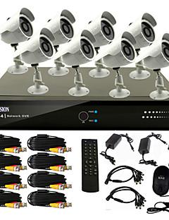 Χαμηλού Κόστους Home Safety-8 CCTV DVR σύστημα καναλιών (8 Εξωτερική warterproof κάμερα, PTZ Control)