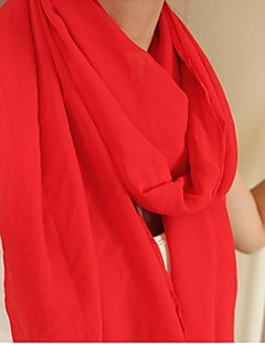 女性の純粋な色のシフォンスカーフ