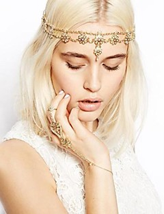 Women's Alloy Head Chain,Casual All Seasons Gold