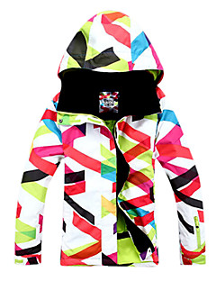 GSOU SNOW Femme Veste de Ski Etanche Garder au chaud Pare-vent Vestimentaire Respirable Poches Intérieures Cap détachable Ski Sports