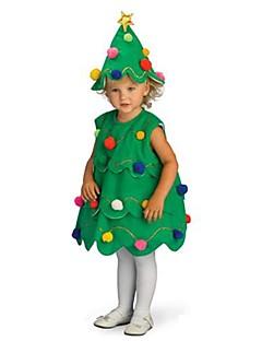 billige julen Kostymer-Juletrær Cosplay Kostumer Santa Clothe Gutter og jenter Barne Jul Halloween Festival / høytid polyester Drakter Grønn