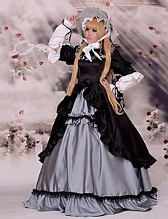 """billige Anime Kostymer-Inspirert av Sladder Victorique de Blois Anime  """"Cosplay-kostymer"""" Cosplay Klær Lapper Langermet Kjole Hatt Til Kvinnelig"""