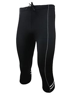 billige Sykkelklær-Arsuxeo Herre Grunnlag Treningstights Sykkelbukser Tights til jogging Fort Tørring Pustende Lettvektsmateriale Tilbake Lomme Reflekskant