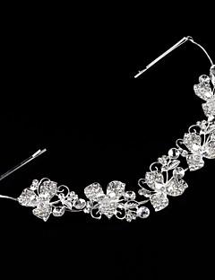 成人用 ラインストーン 合金 人造真珠 かぶと-結婚式 ヘッドバンド