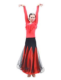 tanie Stroje balowe-Taniec balowy Sukienki Damskie Szkolenie / Spektakl Satyna / Tiul Długi rękaw / Sala balowa