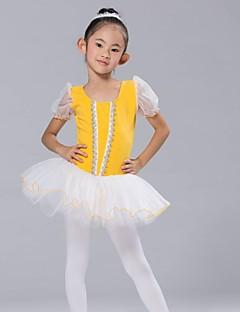 tanie Dziecięca odzież do tańca-Dziecięca odzież do tańca Sukienki i spódnice Topy Tutus Spandeks Szyfon Z krótkim rękawem
