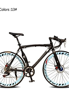 baratos Total Promoção Limpa Estoque-Bicicletas de estrada Ciclismo 7 Velocidade 26 polegadas / 700CC SHIMANO TX30 Freio a Disco Duplo Comum Manocoque Comum Liga de alumínio