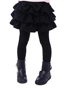 Girl's Fashion Trend Pure Color False Two Thread Leggings Skirts