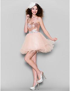 billige Paljettkjoler-Kjole kjole kjære kort / mini tulle sequined prom kjole av ts couture®