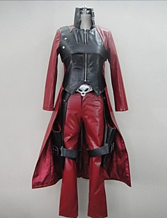 Inspirert av Devil May Cry Cosplay video Spill Cosplay Kostymer Cosplay Suits Lapper Rød Langt ErmeJakke / Bukser / Hansker / Bælte /