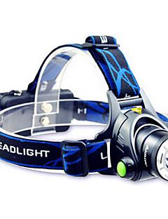 TD286 Hodelykter Frontlykt LED 800 lm Modus Cree T6 med batterier og lader Zoombare Justerbart Fokus Oppladbar Vanntett