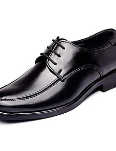 hesapli -Erkek Ayakkabı Tüylü Bahar Sonbahar Biçimsel Ayakkabı Rahat Oxford Modeli Günlük için Bağcıklı Siyah