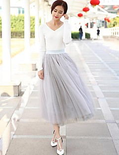 お買い得  レディーススカート-女性用 祝日 Aライン スカート - ソリッド