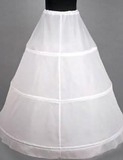 Bruiloft Speciale Gelegenheden Onderjurken Vloerlengte A-Lijn Slip Met