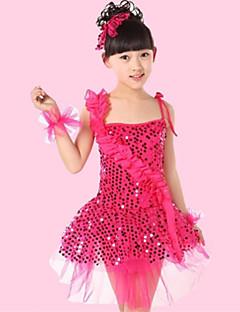hesapli -latin dans performansı elbiseler çocuklar polyester / tül desenleri çiçekler elbise kostümleri by we we®