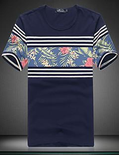 billige -mænds mode print slank kortærmet t-shirts