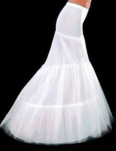 billiga Brudklänningsunderkjol-Underklänningar Sjöjungfru Underkjol Kapellsläp Golvlång 3 Polyester Vit