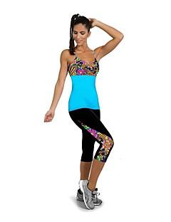 billige Løbetøj-Dame Træningsleggings / Løbetights Hurtigtørrende, Påførelig, Stødsikker 3/4 Tights / Underdele Yoga / Træning & Fitness / Løb Elastin M
