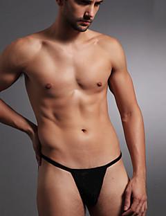 billige Herremote og klær-Herre Super Sexy G-streng Undertøy Boksere Ensfarget 1 Deler Lav Midje