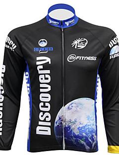 billige Sykkeljerseys-Realtoo Herre Langermet Sykkeljersey Sykkel Jersey, Ultraviolet Motstandsdyktig, Pustende