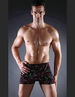 billiga Sportbadkläder-Herr Badshorts Andningsfunktion Polyester / Elastan Badkläder Standkläder Boardshorts Strand / Hög Elasisitet