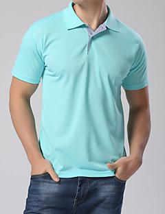 男性用 半袖 ポロシャツ , コットン/ポリエステル カジュアル/プラスサイズ プレイン