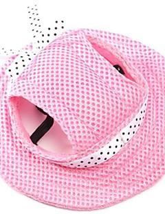 baratos -Gato Cachorro Bandanas & Chapéus Roupas para Cães Férias Fashion Sólido Vermelho Azul Rosa claro Listra Branco/Rosa Ocasiões Especiais