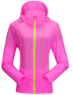 cheap Outdoor Clothing-Women's Hiking Jacket Outdoor Waterproof Quick Dry Windproof Ultraviolet Resistant Anti-Insect Breathable Transparent YKK Zipper