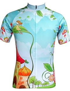 billige Sykkelklær-JESOCYCLING Dame Kortermet Sykkeljersey Tegneserie Sykkel Jersey, Fort Tørring, Ultraviolet Motstandsdyktig, Pustende