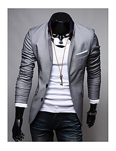 男性用 プレイン カジュアル / フォーマル ブレザー,長袖 コットン混 ブラック / レッド / グレー