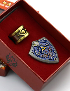 cheap Videogame Cosplay Accessories-Jewelry / Badge Inspired by The Legend of Zelda Cosplay Anime/ Video Games Cosplay Accessories Badge Blue Alloy Male