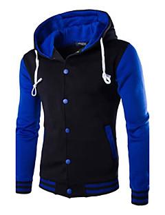 baratos Abrigos e Moletons Masculinos-Homens Esportes Activo Manga Longa Jacket Hoodie Estampa Colorida