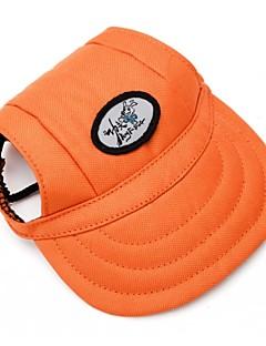 billiga Hundkläder-Katt Hund Snusnäsdukar och mössor Hundkläder Enfärgad Orange Terylen Kostym För husdjur Klassisk