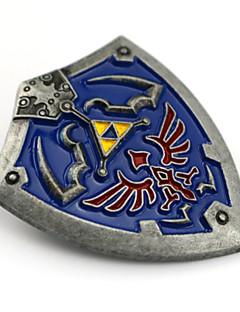 billige Anime cosplay-Smykker Inspirert av The Legend of Zelda Cosplay Anime / Videospil Cosplay Tilbehør Emblem / Brosje Blå Legering Mann