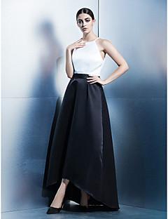billiga Aftonklänningar-A-linje Prydd med juveler Asymmetrisk Satäng Bal / Formell kväll Klänning med Bälte / band av TS Couture®