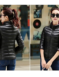 Women's Hiking Down Jacket Thermal / Warm Breathable Single Slider Full Length Visible Zipper Winter Jacket Top for Camping / Hiking