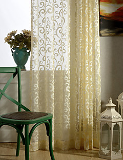 baratos Cortinas Personalizadas-país curtains® um painel de jacquard floral pura cortina cortina