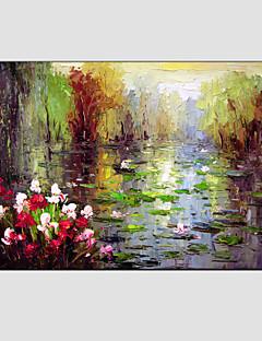 baratos Paisagens Abstratas-Pintura a Óleo Pintados à mão - Paisagem Estilo Europeu Modern Tela de pintura