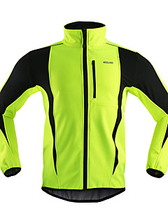 cheap Cycling Clothing-Arsuxeo Cycling Jacket Men's Bike Jacket Winter Fleece Jacket Top Bike Wear Thermal / Warm Windproof Anatomic Design