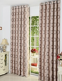 billige Gardiner-To paneler Window Treatment Europeisk , Polka Prikker Stue Poly/ Bomull Blanding Materiale gardiner gardiner Hjem Dekor For Vindu