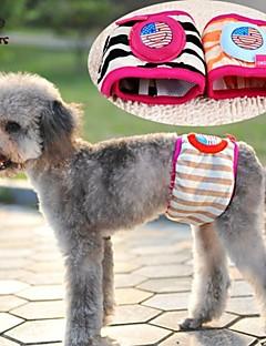 billiga Hundkläder-Katt Hund Byxor Hundkläder Rand Tecknat Regnbåge Cotton Kostym För husdjur Sommar Herr Dam Ledigt / vardag