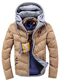 Men's Hoodie Coats & Jackets , Cotton / Cotton Blend Long Sleeve Casual Pocket Winter L-WARM