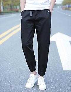 hesapli Erkek Pantolonlar-Erkek Klasik & Zamansız Düz Chinos Pantolon Solid Dörtgen