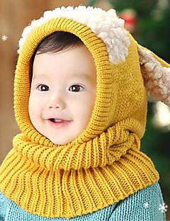 tanie Akcesoria dla dzieci-Kapelusze i czapki Zestawy biżuterii - Dla dziewczynek Dla chłopców - Zima - Bawełna - Bandany - Yellow Czerwony Niebieski Różowy